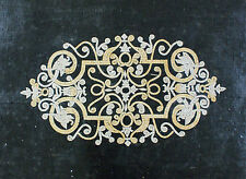 Royal Gold And White Chandelier Design Black Background Marble Mosaic CR1004