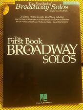 The First Book of Broadway Solos Tenor Music Book & New Audio CD