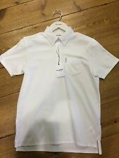Ben Sherman New Logo Jersey Spotted Collar Polo/Off White - Medium
