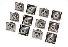 12 Lot SO-239 Chassis Mount Female UHF Connector for Ham Radio or J Pole Antenna