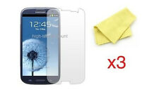 Lot 3x films de protection écran pour Samsung i9300 Galaxy s3