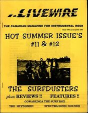 LIVEWIRE DOUBLE ISSUE 11 & 12 CANADA MAGAZINE INSTRUMENTAL ROCK SURFDUSTERS