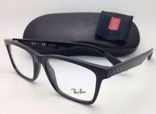 New RAY-BAN Rx-able Eyeglasses RB 7025 2000 55-17 Black Frame w/ Clear Lenses
