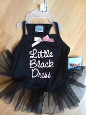 """SIMPLY WAG BLACK with NET SKIRT """"LITTLE BLACK DRESS""""  Dress Puppy/Dog small"""