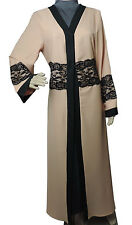 Modest Wear Abaya Robe Cardigan Kimono Maxi Dress Muslim Overgarment Nude Pink