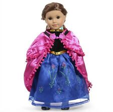 2017 Hot sell fashion clothes dress for 18inch American girl doll party b120