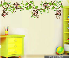 Monkey On Tree Removable Wall Decal Sticker Kid Baby Nursery Room Home by tube
