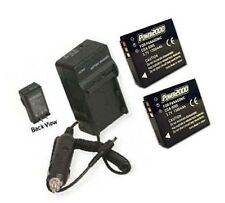 TWO IA-BH125C Batteries +Charger for Samsung HMX-R10 HMX-R10B HMX-R10BN HMX-R10S