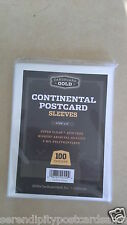 "100 Cardboard Gold Continental / Modern Postcard Sleeves 4 3/8"" x 6"" suit photos"