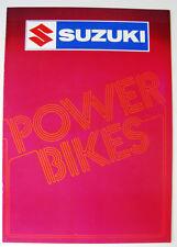 SUZUKI POWER BIKES RANGE - Motorcycle Sales Brochure 1983 GSX550ES GSX1100ES ++