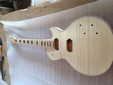 Unfinished LP electric guitar body with neck Excellent quality