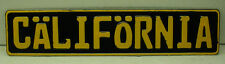 California black VW bmw mercedes volvo european license plate YouR TEXT vintage
