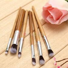 6pcs Bamboo Professional Eyeshadow Makeup Cosmetic Tool Kabuki Eye Brush Set Kit