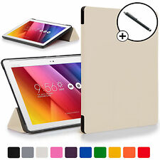 Forefront Cases® White Folding Smart Case Cover for ASUS Zenpad Z300C + Stylus