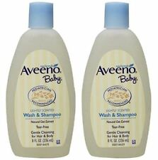2 x AVEENO BABY WASH AND SHAMPOO - NATURAL OAT EXTRACT - 8OZ /236mlML