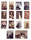 SET OF HAND-MADE DOLLS' HOUSE 1/12TH SCALE VICTORIAN ROYAL PHOTOGRAPHS