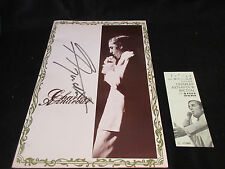 Charles Aznavour 1972 Japan Tour Book Signed Copy w Ticket Stub Concert Program