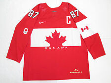 SIDNEY CROSBY TEAM CANADA RED SOCHI 2014 OLYMPICS NIKE HOCKEY JERSEY SIZE LARGE