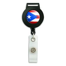 Puerto Rico National Country Flag - Lanyard Retractable Badge ID Card Holder