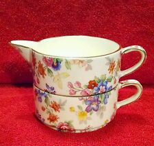 Royal Winton Grimwades Chintz Cotswold 1952 Stacking Cream Sugar England Numbers