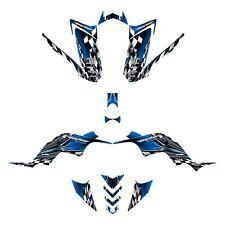 Yamaha Raptor 90 graphics YFM 90R custom deco kit #2500 Blue