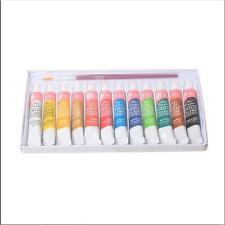 Paint Tube  Painting Acrylic Draw 5ml  Color Set Free Paint Brush 12 Color