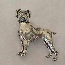 D8 Boxer English Pewter Dog Pin Badge