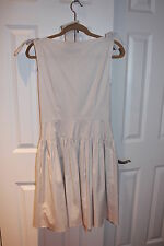 Prada Bow Gathered Dress in Taupe Size: 44 New With Tags
