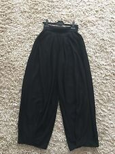 SONIA RYKIEL  Black Wool Knitted Wide Leg Trousers Pants Size 46  UK  12 14