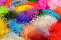 10 Small Fluffy MARABOU FEATHERS 5 - 8 cm GREAT QUALITY/card making/scrapbooking