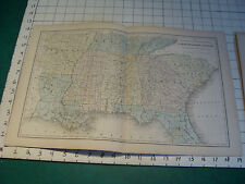 """Vintage Original 1866 Mitchell Map: SOUTHERN STATES map # 12 aprox 19 X 12"""""""