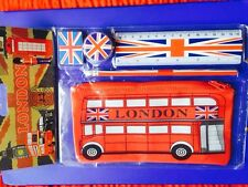 SCHOOL KIT, ZIP BAG,SCALE, PENCIL, ERASER,  SHARPNER, LONDON SOUVENIR