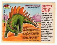 Dino-Welt - 1980s Fritt Germany Sticker #6 Kentrosaurus Dinosaur