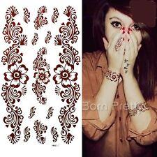 1 Sheet Paisley Mehndi Tattoo Decals Henna Art Mehendi Paper Temporary Tattoo