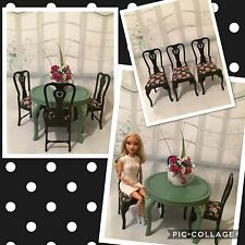 BARBIE,SILKSTONES,doll,FURNITURE,OOAK,DIORAMA,chair,table,CUSTOM MADE,SCALE,1/6