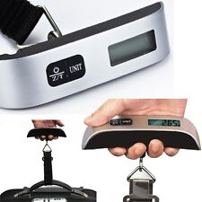 Portable Suitcase Luggage Weighing Scales 50kg Hanging Electronic Digital Travel