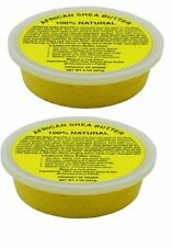 Free Ship - (2) Pack- New African Shea Butter Cream 100% Pure & Raw Gold 8 Oz.