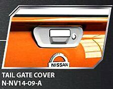 CHROME TAILGATE HANDLE BOWL COVER NO CAMERA FOR NISSAN NAVARA NP300 2015 TRUCK