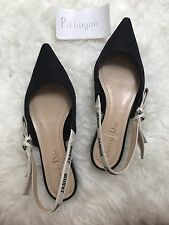 EUC Dior J'adior Flats Shoes Leather Black IT 38 $790 + Tax