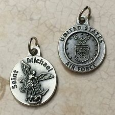 "Saint Michael Archangel 3/4"" Protection Medal Pendant United States Air Force"