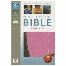 Thinline Compact Bible / NIV by Zondervan:  Imitation Leather - Chocolate - Pink
