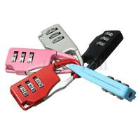 Resettable Code Lock 3Digit Combination Security Safe Travel Luggage Padlock