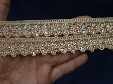 Indian Laces Trims Saree Border Gold Kundan Lace