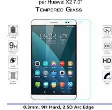 "PELLICOLA VETRO TEMPERATO tempered glass per HUAWEI Honor X2 media pad 7.0"" 9H"