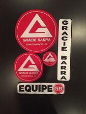Gracie Barra Jiu Jitsu Patches - New - Set of 5 for Gi Jacket & Pants
