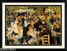 Renoir Art Dance at Le Moulin de la Galette Custom Framed Print