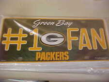 NFL GREEN BAY PACKERS #1 FAN  Metal License Plate Tag FOR VEHICLES