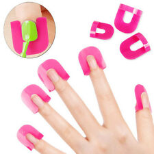 26Pcs/ Pack 10 Size Women Nails Clip Nail Polish Glue Overflow Prevention Tools