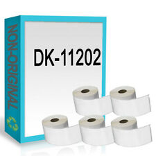5 ROLL FOR DK11202 DK 11202 BROTHER COMPATIBLE ADDRESS LABELS 62mm x 100mm
