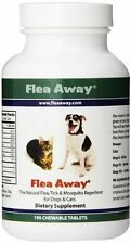 FLEA AWAY Natural Dog Flea Repellent MADE IN USA 100 Chewable Tabs